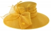 Failsworth Millinery Wide Brimmed Events Hat in Sunflower