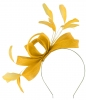 Failsworth Millinery Wide Loops Fascinator in Sunflower