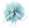 Failsworth Millinery Feather Fascinator in Surf