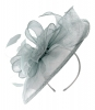 Failsworth Millinery Sinamay Headpiece in Surf