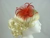 Swirl & Biots Fascinator on clip in Red