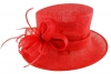 Failsworth Millinery Wedding Hat in Tabasco