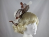 Large Loop Fascinator in Taupe & White