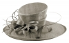 Elegance Collection Ascot Hat in Taupe