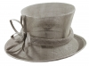 Elegance Collection Sinamay Flower Occasion Hat in Taupe