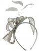 Elegance Collection Sinamay Loops and Feathers Fascinator in Taupe