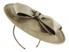 Failsworth Millinery Bow Disc in Taupe