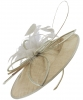 Failsworth Millinery Butterfly Events Disc in Taupe