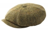 Failsworth Millinery Carloway Flat Cap in Taupe