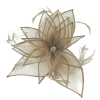 Failsworth Millinery Diamante Organza Fascinator in Taupe