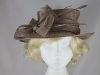 Hawkins Collection Quills Occasion Hat in Taupe