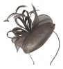 Hawkins Collection Button Headpiece with Loops and Leaves in Taupe
