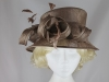 Hawkins Collection Short Down Brim Wedding Hat in Taupe
