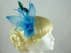Large Bright Fascinator in Teal