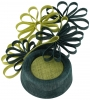 Failsworth Millinery Events Pillbox Headpiece in Teal & Lime