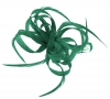 Aurora Collection Loops in Hessian Fascinator in Teal