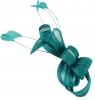 Elegance Collection Loops Clip Fascinator in Teal