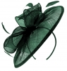 Failsworth Millinery Sinamay Disc Headpiece in Teal