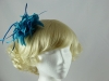Flower and Biots Fascinator in Teal