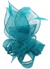 Molly and Rose Sinamay Comb Fascinator in Teal
