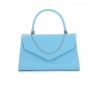 Papaya Fashion Patent Evening Bag in Teal