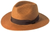 Failsworth Millinery Fedora Panama Hat in Tobacco