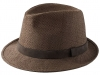 Failsworth Millinery Straw Trilby in Tobacco