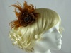 Victoria Fascinator in Toffee