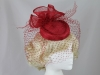 Failsworth Millinery Mini Pillbox with Veil in Tulip