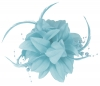 Aurora Collection Flower Fascinator in Turquoise