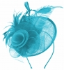Aurora Collection Rose and Feather Disc in Turquoise