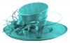 Elegance Collection Ascot Hat in Turquoise