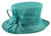 Elegance Collection Sinamay Flower Occasion Hat in Turquoise
