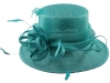Elegance Collection Sinamay Loops Wedding Hat in Turquoise
