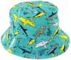 Jiglz Shark Cotton Sun Hat in Turquoise