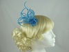 Twin Flower Fascinator in Blue