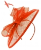 Failsworth Millinery Sinamay Disc Headpiece in Vermilion