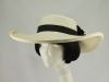 Vero Bermudez Hats Wedding Hat Black and Ivory