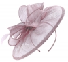 Failsworth Millinery Sinamay Disc Headpiece in Viola
