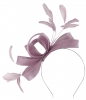 Failsworth Millinery Wide Loops Fascinator in Viola