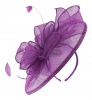 Failsworth Millinery Sinamay Headpiece in Violet