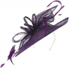 Max and Ellie Ascot Disc Headpiece in Violet