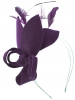 Max and Ellie Lily Felt Fascinator in Violet