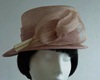 Failsworth Millinery Wedding hat Pinky Cream