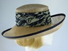 Ascot hat Palest Brown and Navy pattern