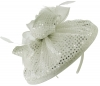Failsworth Millinery Sequined Disc Headpiece in White-Silver