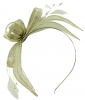 Failsworth Millinery Sinamay Fascinator in White-Silver