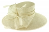 Failsworth Millinery Wide Brimmed Events Hat in White-Silver