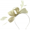Failsworth Millinery Wide Loops Fascinator in White-Silver