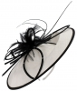 Failsworth Millinery Butterfly Events Disc in White & Black